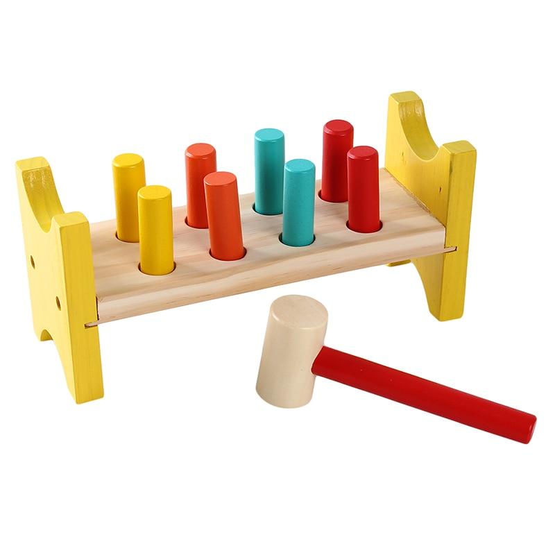 [해외]몬테소리 재료 조기 학습 나무 교육 완구 나무 망치 장난감 햄스터 게임 두들겨 벤치 노크 테이블/몬테소리 재료 조기 학습 나무 교육 완구 나무 망치 장난감 햄스터 게임 두들겨 벤치 노크 테이블