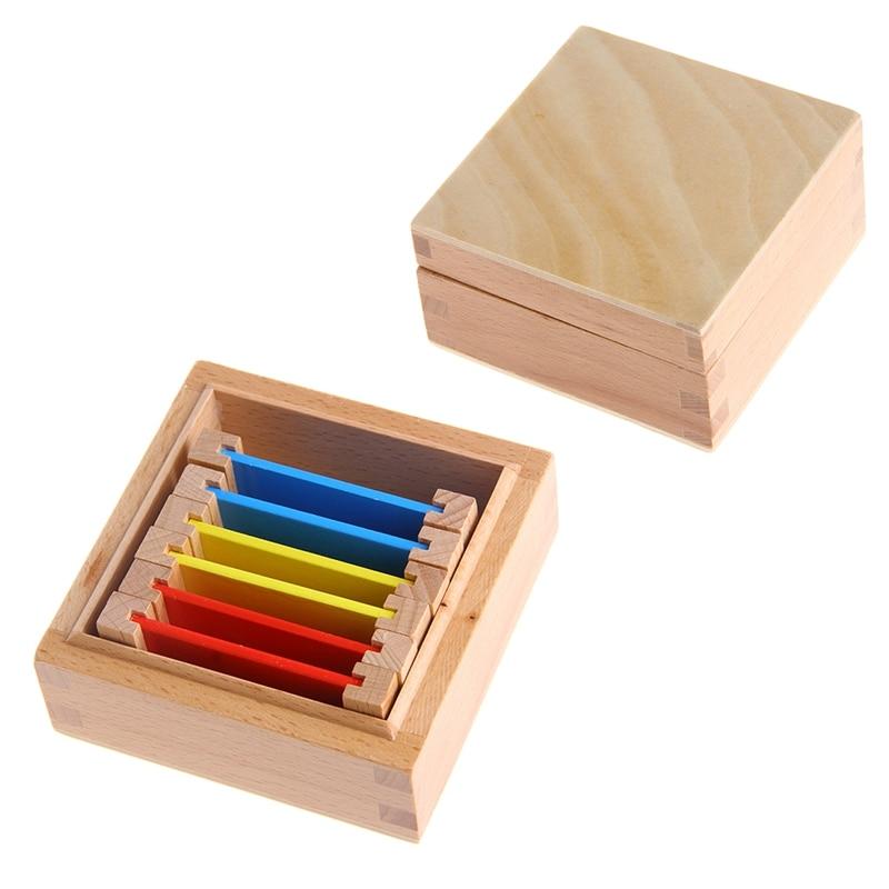 [해외]몬테소리 감각 자료 학습 컬러 태블릿 상자 1/2/3 나무 유치원 장난감/몬테소리 감각 자료 학습 컬러 태블릿 상자 1/2/3 나무 유치원 장난감