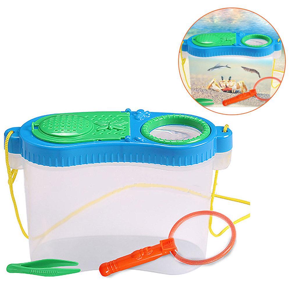 [해외]유아 교육 실험 연구 플라스틱 도구 상자 곤충 먹이 관찰 상자 그물 사육 상자 퍼즐 장난감 세트/유아 교육 실험 연구 플라스틱 도구 상자 곤충 먹이 관찰 상자 그물 사육 상자 퍼즐 장난감 세트