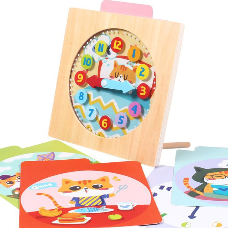 [해외]Wooden Digital Clock Toddler Early Learning Education Cognitive Toys Child Time  Cognitive Training Toy/Wooden Digital Clock Toddler Early Learnin
