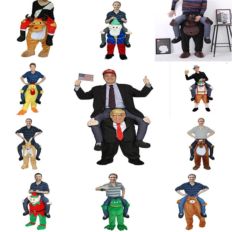 [해외]재미 있은 코스프레 도널드 트럼프 크리스마스 할로윈 파티 말 타기 옷 참신은 야외 완구를 선물한다./Funny Cosplay Donald Trump Christmas Halloween Party Horse Ride Clothes Novelty Carry Back