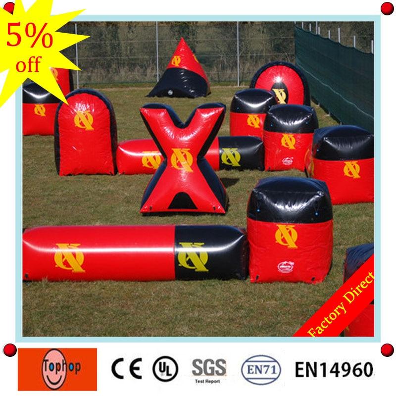 [해외]2017  pvc tarpaulin inflatable paintball barrier,inflatable air bunker,inflatable paintball air field for sale/2017  pvc tarpaulin inflatable pain