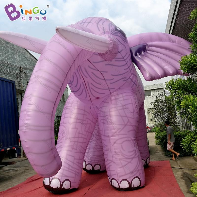 [해외]High quality pink color giant inflatable elephant promotional digital printed blow up elephant cartoon for decoration toys/High quality pink color