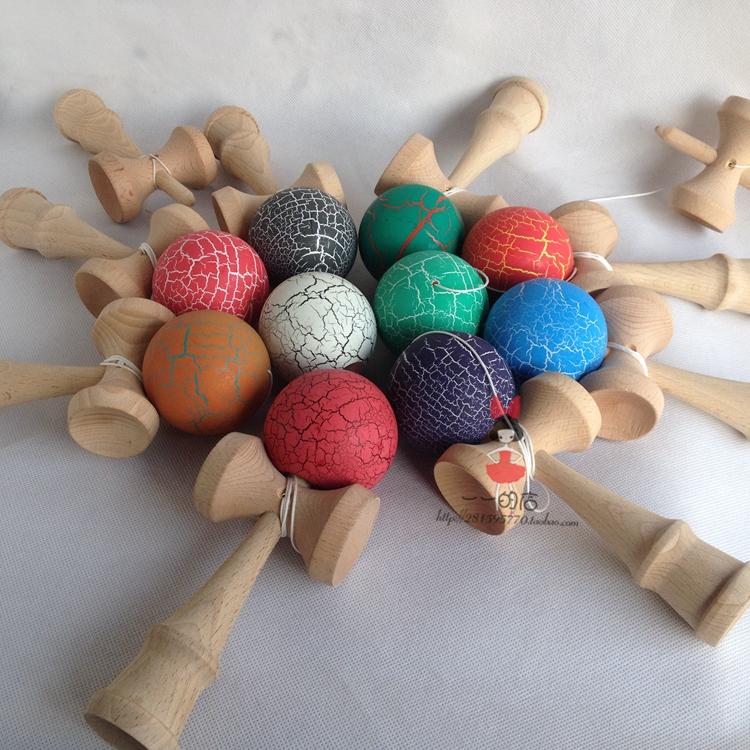 [해외]70pcs Crack Paint Kendama Ball Skillful Juggling Game Ball Japanese Traditional  Balls  For Adult Gift For Children/70pcs Crack Paint Kendama Ball