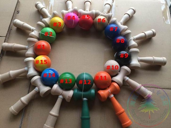 [해외]Size:18.5cm Funny Japanese Traditional Game   Kendama Ball colorful  180pcs tribute professional/Size:18.5cm Funny Japanese Traditional Game   Ken