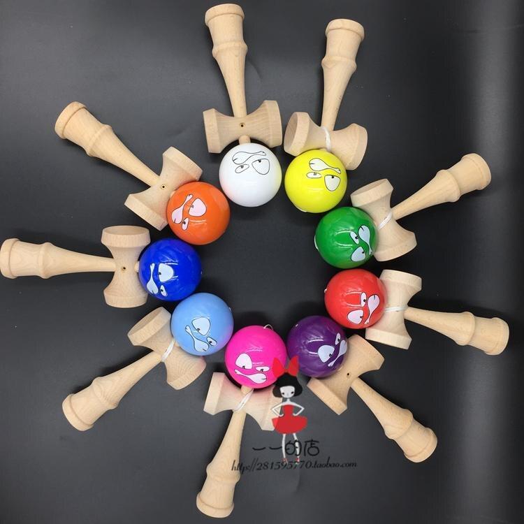 [해외]100pcs Pearlescent pu paint tips ball kendama Professional game top quality smiley face/100pcs Pearlescent pu paint tips ball kendama Professional