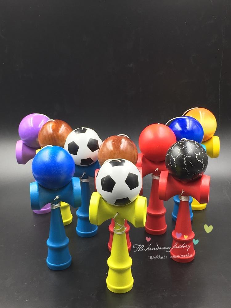 [해외]100piece/lot  Size:18cm  Kendama Football colorful  tribute professional/100piece/lot  Size:18cm  Kendama Football colorful  tribute professional