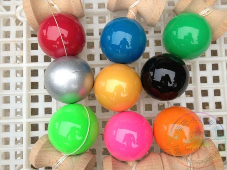 [해외]크기: 18 cm 재미 있은 일본 전통 게임 kendama 공 다채로운 pu 페인트 twb 소매/많은 전문가/크기: 18 cm 재미 있은 일본 전통 게임 kendama 공 다채로운 pu 페인트 twb 소매/많은 전문가
