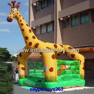 [해외]animal design giraffe inflatable bouncy castle for sale, giraffe air jumper for children, durable professional inflatable castle/animal design gir