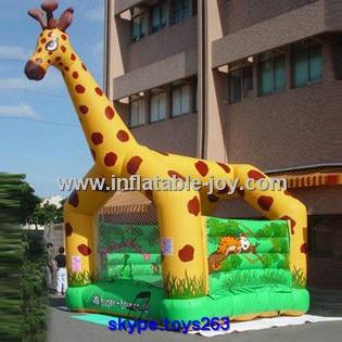 [해외]animal design giraffe inflatable bouncy castle for sale, giraffe air jumper for children, durable professional inflatable castle/animal design gir