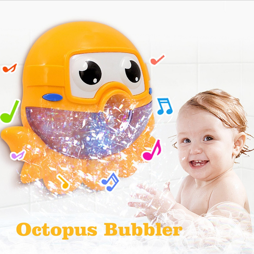 [해외]Bubble Machine Tub Big Cute Octopus Automatic Bubble Maker Blower 12 Music Song /Bubble Machine Tub Big Cute Octopus Automatic Bubble Maker Blower