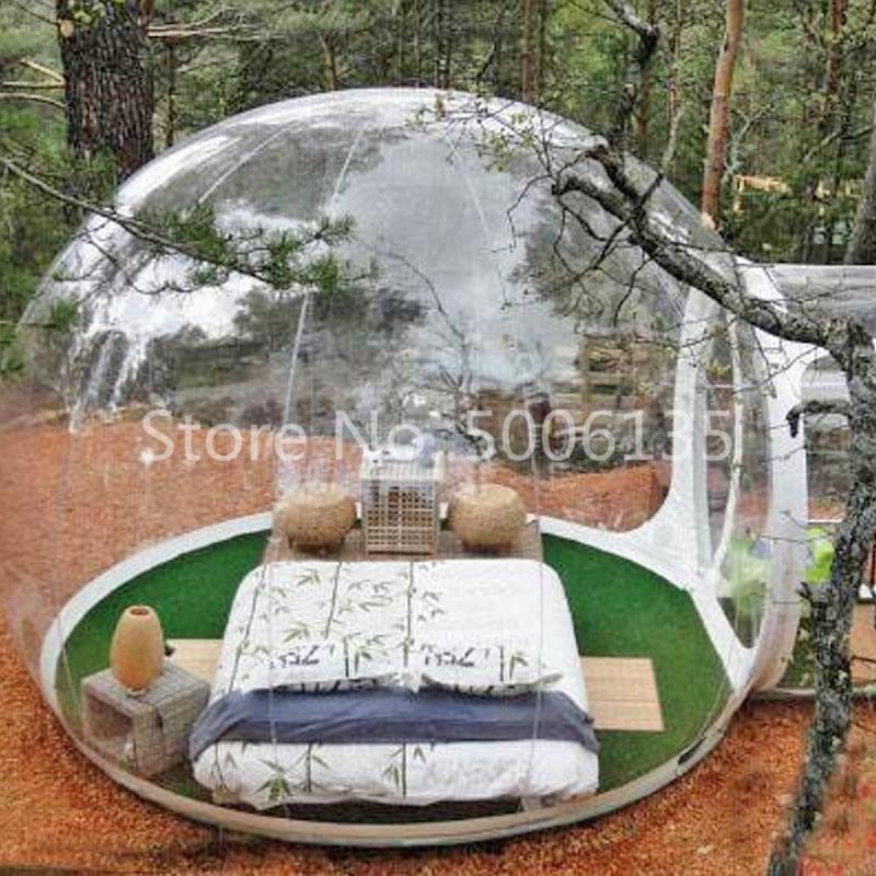 [해외] Clear Bubble Camping Tent inflatable transparent bubble snow globe tent for / Clear Bubble Camping Tent inflatable transparent bubble s