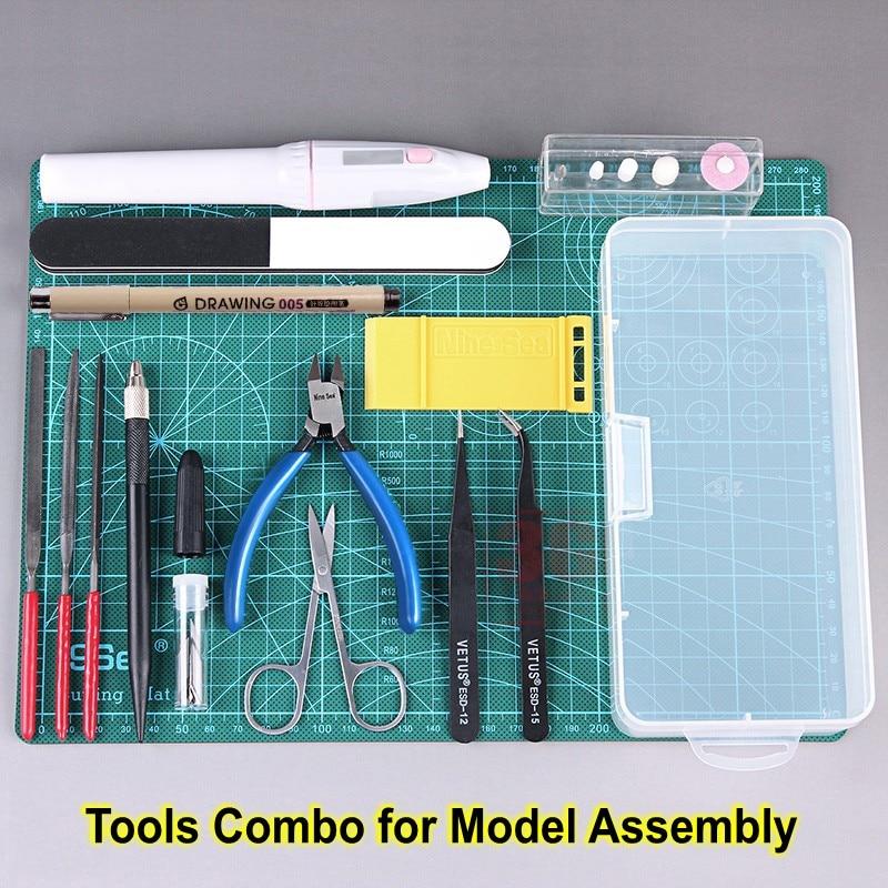 [해외]모델 빌딩 도구 건담 도구 콤보 군사 취미 모델 diy 액세서리 연삭 절삭 연마 도구 세트/모델 빌딩 도구 건담 도구 콤보 군사 취미 모델 diy 액세서리 연삭 절삭 연마 도구 세트