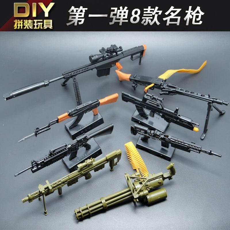 [해외]DIY 8 개/대 스케일 1:6 어셈블리 4D 총 MK14/M95/MG42/AK47/98 K/M16/DSR-1/기관총 군사 무기 게임 모델 장난감 A632/DIY 8 개/대 스케일 1:6 어셈블리 4D 총 MK14/M95/MG42/AK47/98