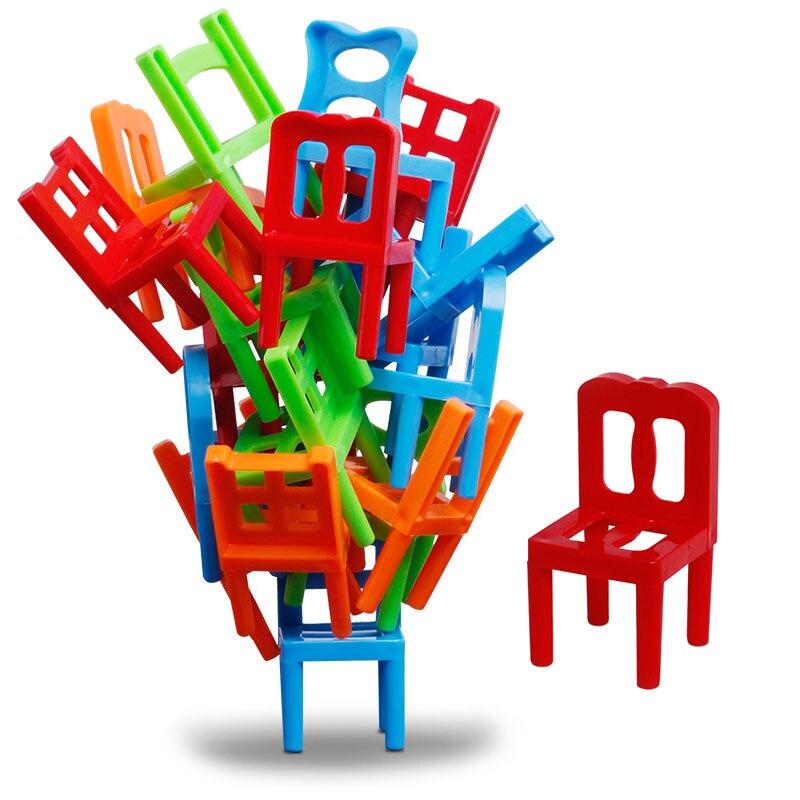 [해외]18 pcs 균형 스태킹 의자 빌딩 블록 손으로 눈 조정 지적 개발 사무실 장난감 대화 형 장난감/18 pcs 균형 스태킹 의자 빌딩 블록 손으로 눈 조정 지적 개발 사무실 장난감 대화 형 장난감