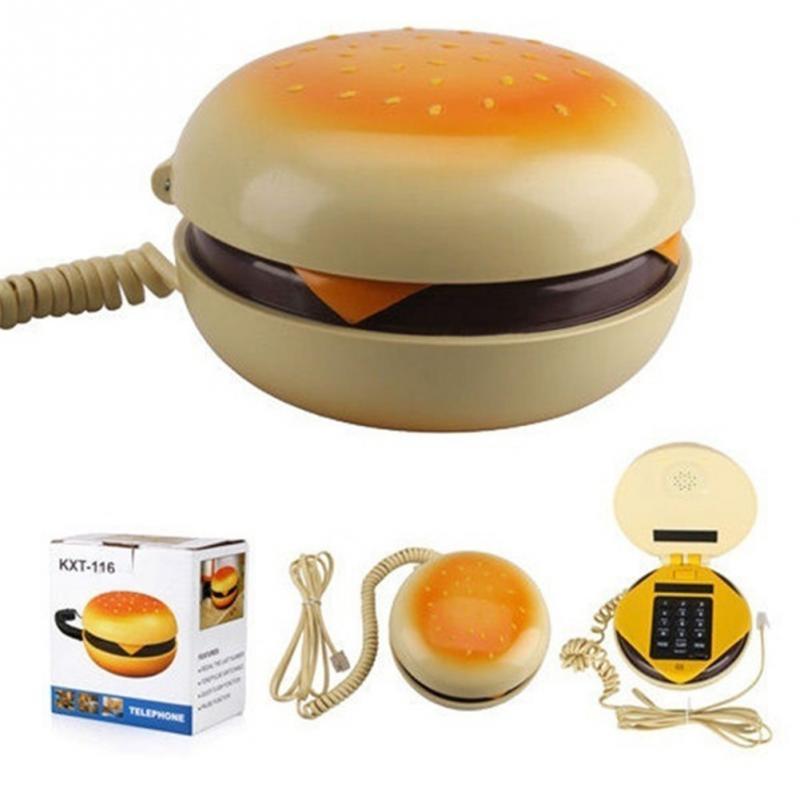 [해외][TOP] 내구성 CB2 Novetly Juno 햄버거 치즈 버거 버거 유선 전화 참신 정말 전화 빵 모델 전화 귀여운 선물