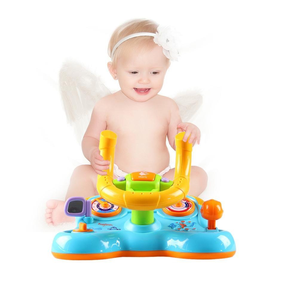 [해외]진동 스티어링 휠 장난감으로 어린이 조기 교육 소리와 빛 변형/진동 스티어링 휠 장난감으로 어린이 조기 교육 소리와 빛 변형