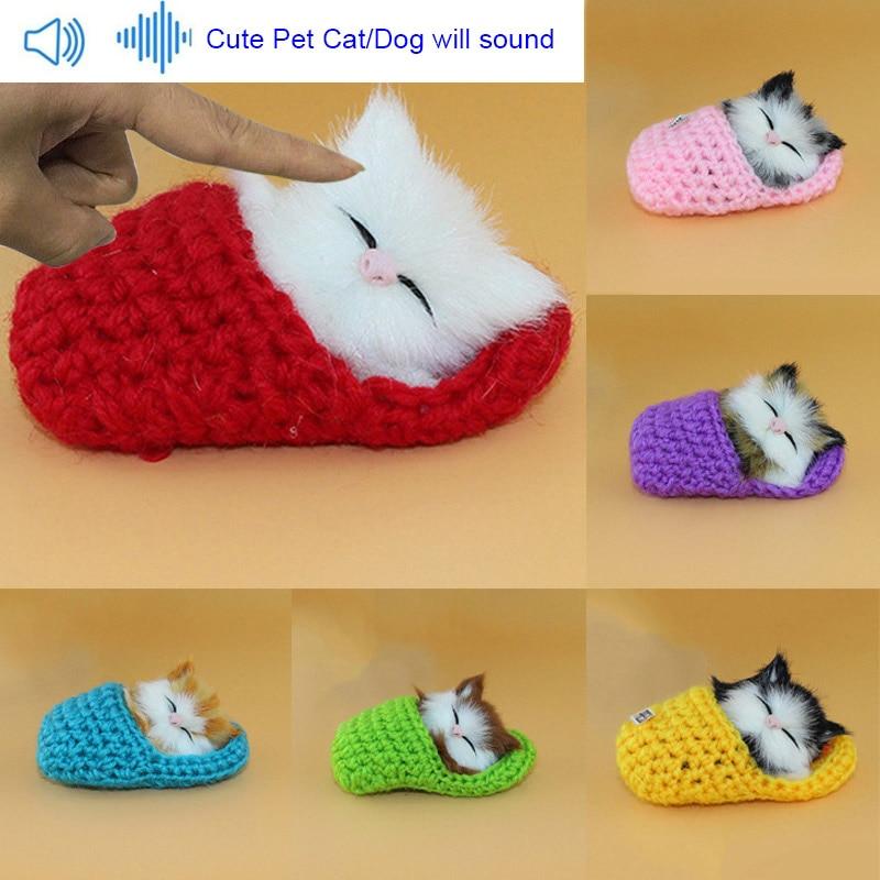 [해외]뜨거운 판매 살아있는 아이 장난감 귀여운 플러시 슬리퍼 고양이 소프트 인형 시뮬레이션 사운드 완구/뜨거운 판매 살아있는 아이 장난감 귀여운 플러시 슬리퍼 고양이 소프트 인형 시뮬레이션 사운드 완구