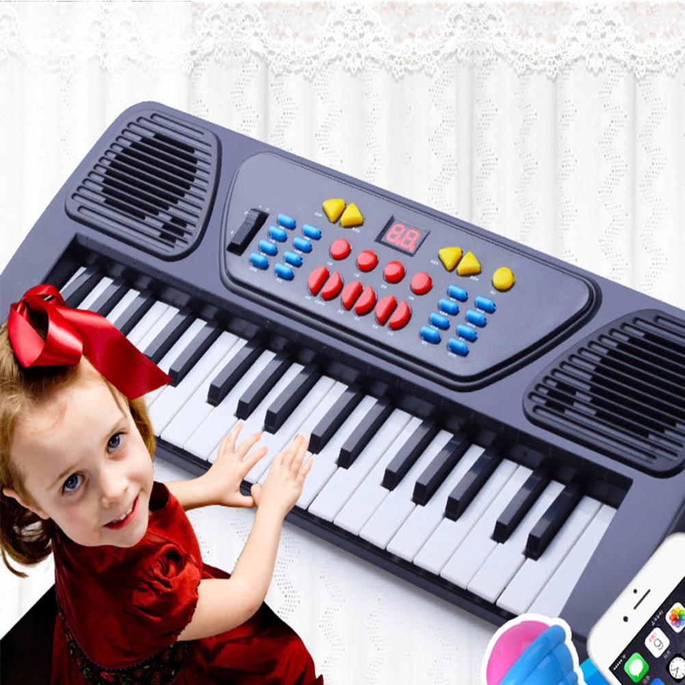 [해외]Leadingstar 미니 37 키 전자 키보드 피아노 장난감 마이크 음악 지적 장난감/Leadingstar 미니 37 키 전자 키보드 피아노 장난감 마이크 음악 지적 장난감