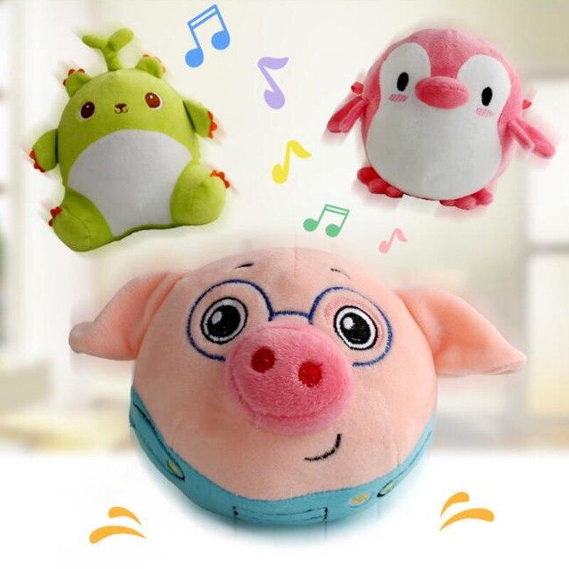 [해외]500 노래 말하기 플러시 돼지 전기 튀는 음악 애완 동물 소리 공 다기능 개 대화 형 장난감 어린이위한/500 노래 말하기 플러시 돼지 전기 튀는 음악 애완 동물 소리 공 다기능 개 대화 형 장난감 어린이위한