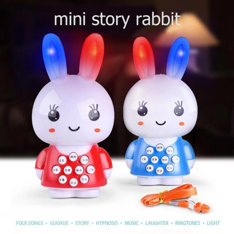 [해외]플라스틱 전기 귀여운 토끼 이야기 기계 장난감 지능형 학습 도구 재미있는 게임 선물 크리 에이 티브 교육 어린 시절 노래