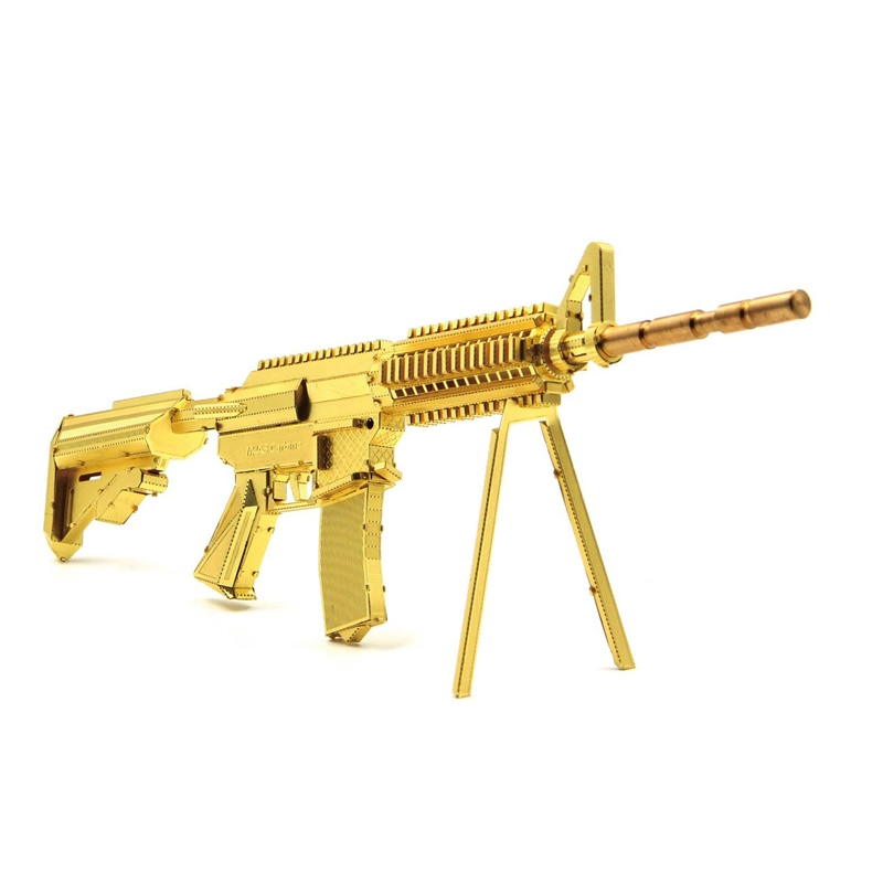 [해외]Microworld 3D metal puzzle M4A8 Carbine gun Model DIY Laser Cut Jigsaw Model gifts For Adult Educational Toys Desktop decoration/Microworld 3D met