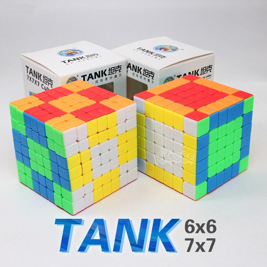 [해외]Shengshou 탱크 7x7 6x6 큐브 속도 매직 stickerless 퍼즐 cubo magico 6x6x6 7x7x7 stickerless 퍼즐 교육 장난감 어린이/Shengshou 탱크 7x7 6x6 큐브 속도 매직 stickerless