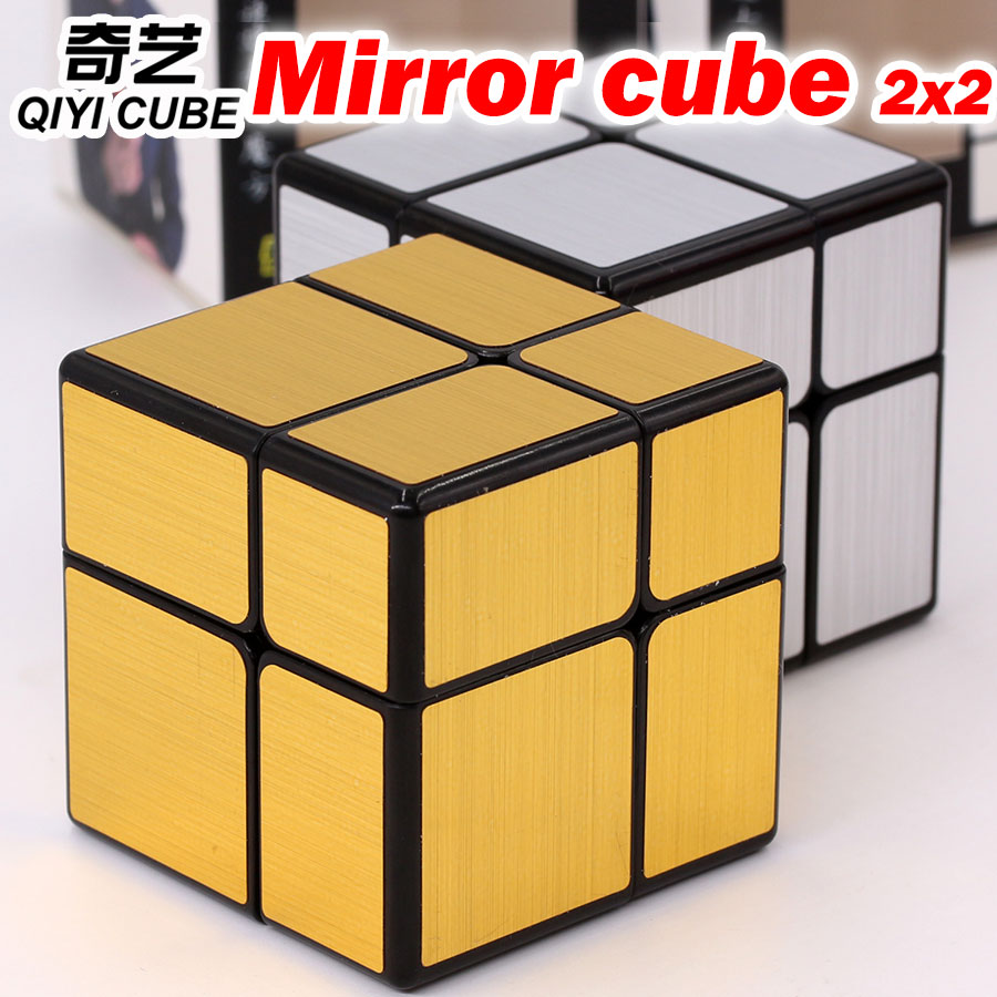 [해외]퍼즐 매직 큐브 qiyi 캐스트 코팅 이상한 모양 미러 큐브 2x2 논리 게임 속도 전문 속도 큐브 교육 완구 선물