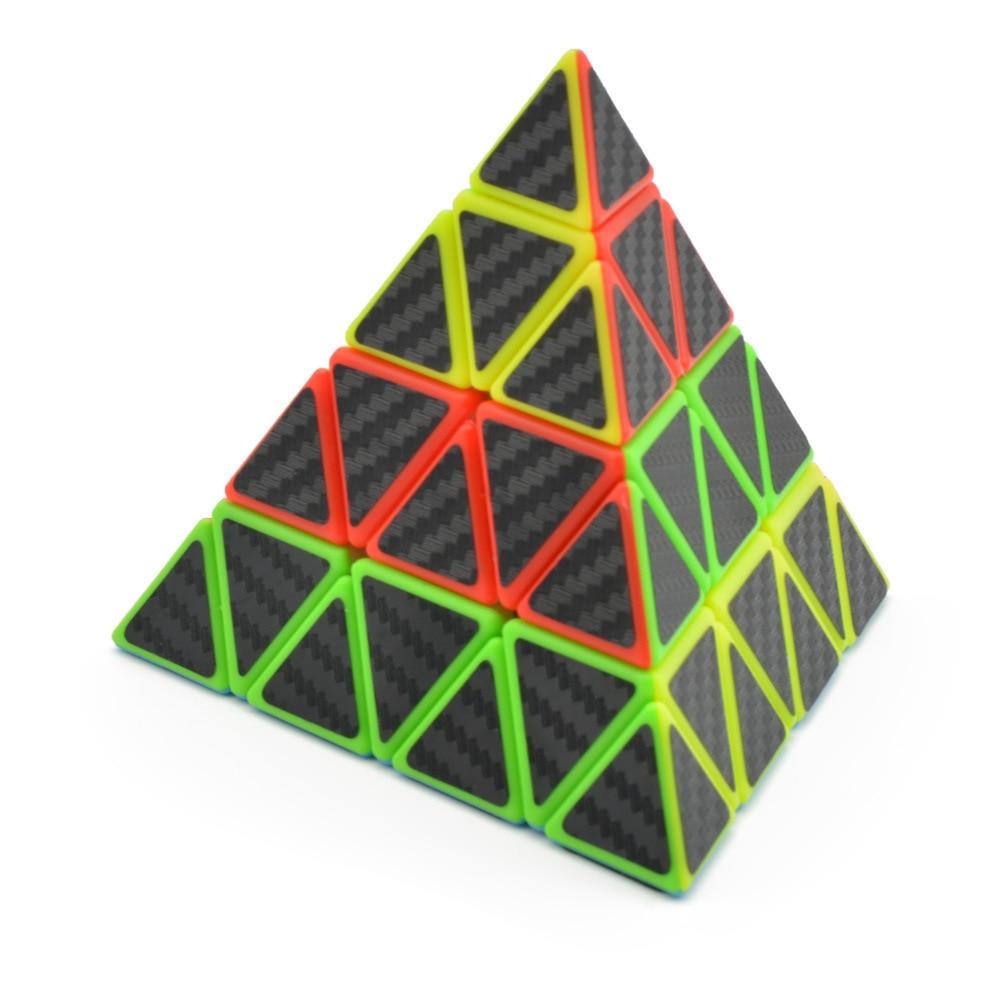 [해외]Lefun 마스터 피라미드 매직 큐브 탄소 섬유 스티커 cubo magico 트위스트 퍼즐 교육 장난감 퍼즐 교육 완구 어린이를위한