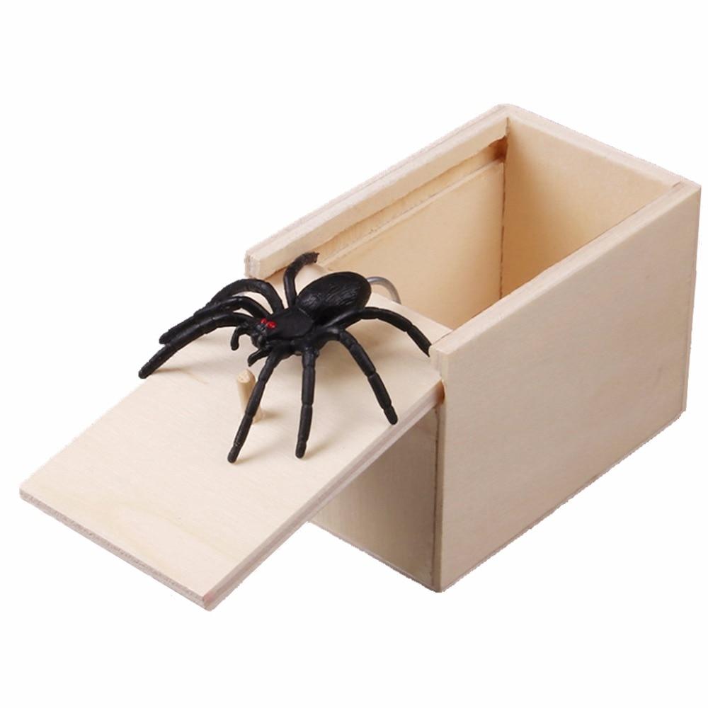 [해외]1PC 참신 들뜬 무서운 상자 거미 장난 나무 Scarybox 농담 개그 장난감 아니 단어