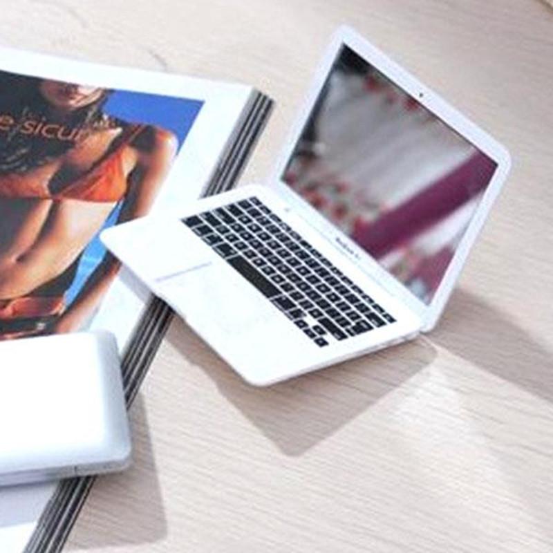 [해외]Portable Mini Cute Pocket Laptop Style Clear Glass Women Cosmetic Beauty Mirrors Fashion Notebook Form  Practical Jokes Toy/Portable Mini Cute Poc
