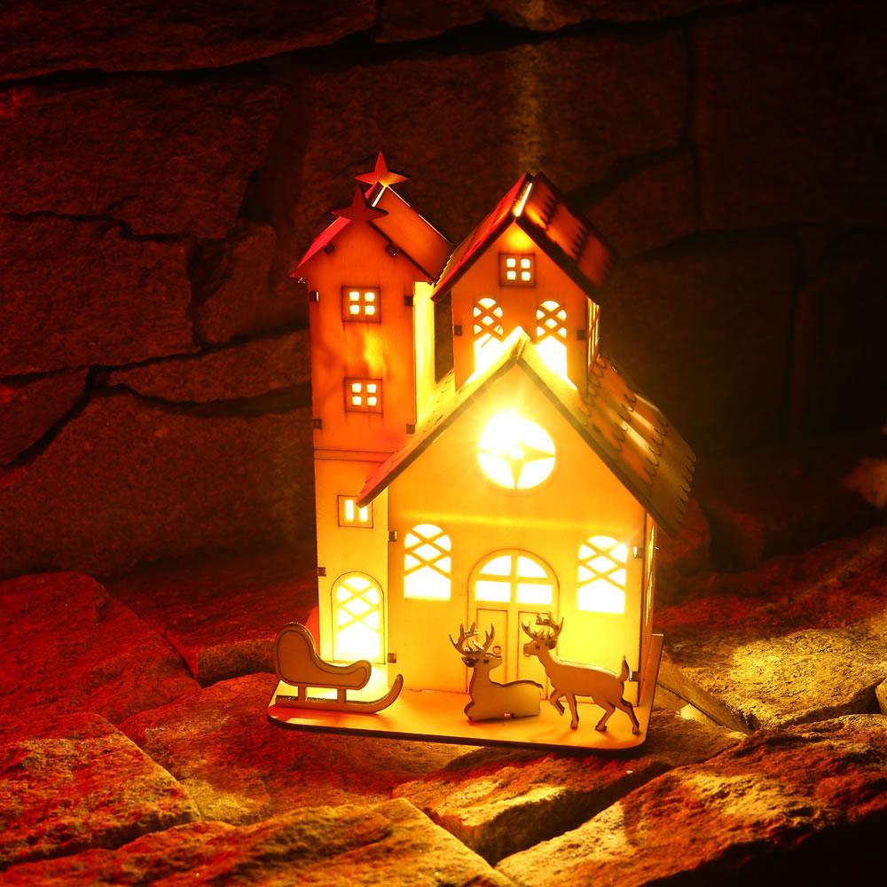 [해외]크리스마스 우드 샬레 led 라이트 크리스마스 장식 호텔 바 카페 하우스 축제 드롭 배송/크리스마스 우드 샬레 led 라이트 크리스마스 장식 호텔 바 카페 하우스 축제 드롭 배송