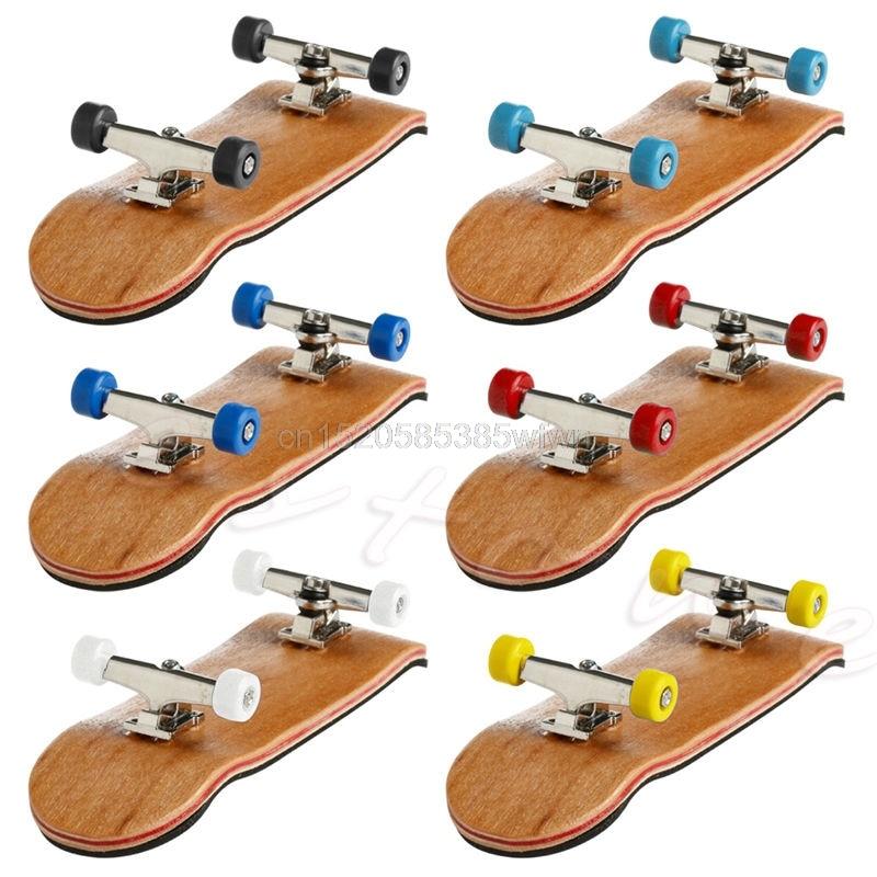 [해외]Professional Type Bearing Wheels Skid Pad Maple Wood Finger Skateboard Alloy Stent Bearing Wheel Fingerboard Novelty Toy/Professional Type Bearing