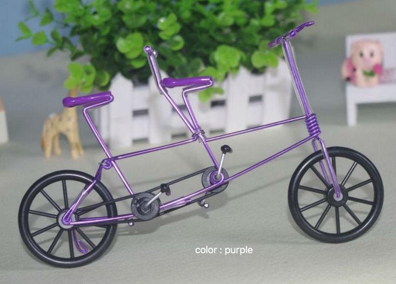 [해외]/Two-seater Bicycle/Finger Bikes,Creative, wrought iron handicrafts, souvenirs crafts tandem Bicycle Model