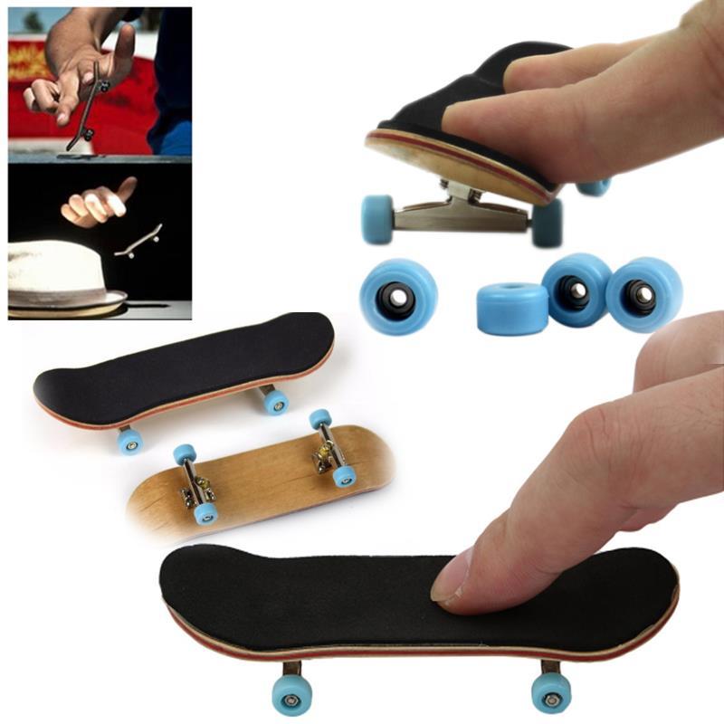 [해외]Creative Complete Wooden Fingerboard Finger Skate Board  Mini Finger Skateboarding Grit Box Mini Skateboards Finger Scooter toys/Creative Complete