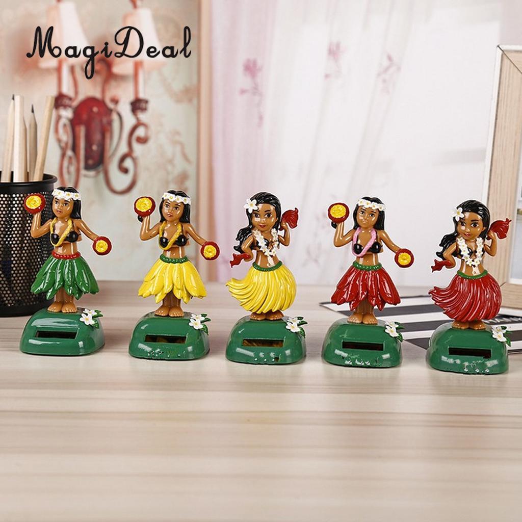 [해외]태양 강화 된 춤 Llulu 파티 하와이 소녀 스윙 잉 장식 장난감 자동차 홈 장식 장식 3 색 선택