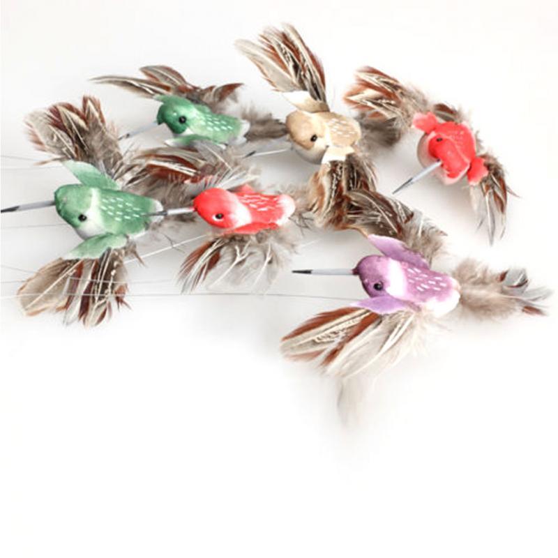 [해외]태양 hummingbird 전원 진동 춤 비행 정원 마당에 대 한 펄럭이는 새 장식 스테이크 비행 fluttering 장식 장난감