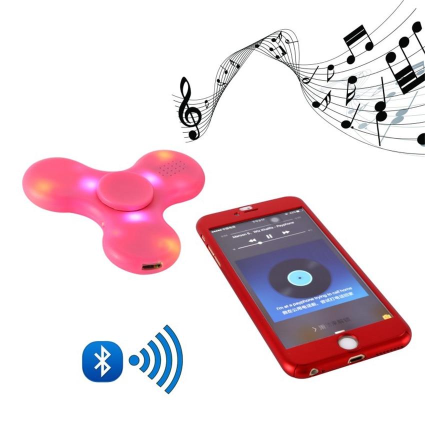[해외]Fidget Spinner LED Bluetooth Speaker EDC ABS Bearing Bluetooth Connect Make a Music For Autism ADHD Anxiety Stress/Fidget Spinner LED Bl