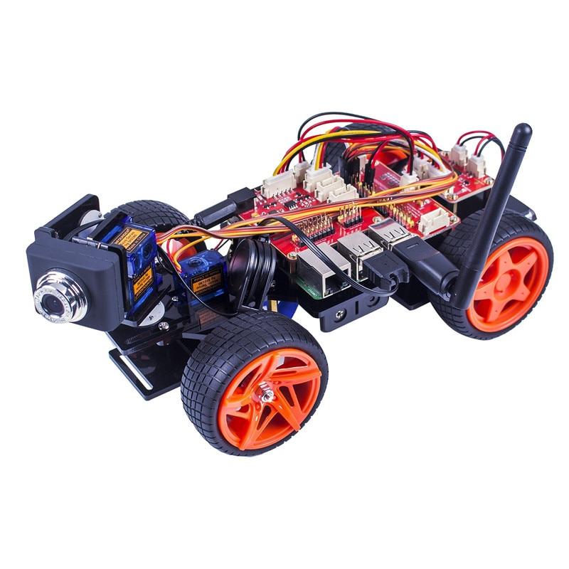 [해외]라스베리 파이에 대한 SunFounder 원격 제어 로봇 키트 스마트 비디오 자동차 키트 V2.0 RC 로봇 App 제어 완구 (RPi 포함되지 않음)/라스베리 파이에 대한 SunFounder 원격 제어 로봇 키트 스마트 비디오 자동차 키트 V