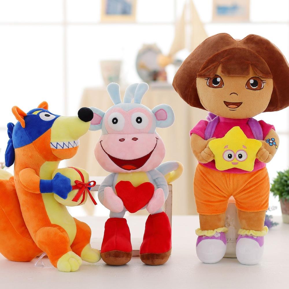 [해외]도라 원숭이 부츠의 3 개/몫 사랑 모험 swiper 봉제 인형 장난감 25 cm 도라 원숭이 어린이를위한 부드러운 tv 및 영화 봉제 인형/도라 원숭이 부츠의 3 개/몫 사랑 모험 swiper 봉제 인형 장난감 25 cm 도라 원숭이 어린이를