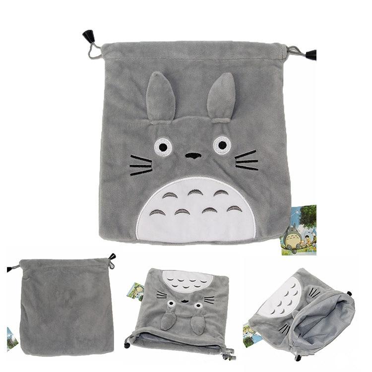 [해외]21X19CM 토토로 보관 가방 이웃 토토로 고양이 만화 그레이 플러시 소프트 인형 동물 크리 에이 티브 그립 포켓 플러시 지갑 가방/21X19CM Totoro Storage Bag My Neighbor Totoro Cat Cartoon Gray Plush So