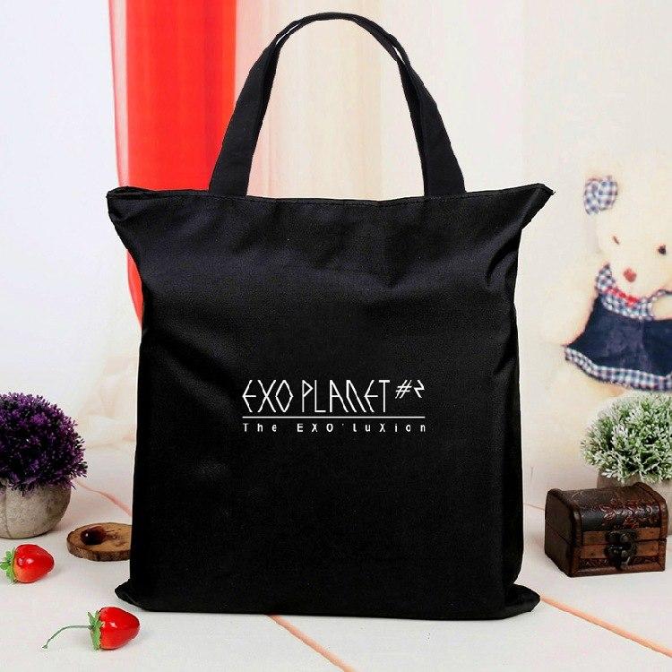 [해외][MYKPOP] EXO 캔버스 가방 캐주얼 쇼핑백 KPOP 팬 컬렉션 SA18080106/[MYKPOP]EXO Canvas Bag Casual Shopping Bag KPOP Fans Collection SA18080106