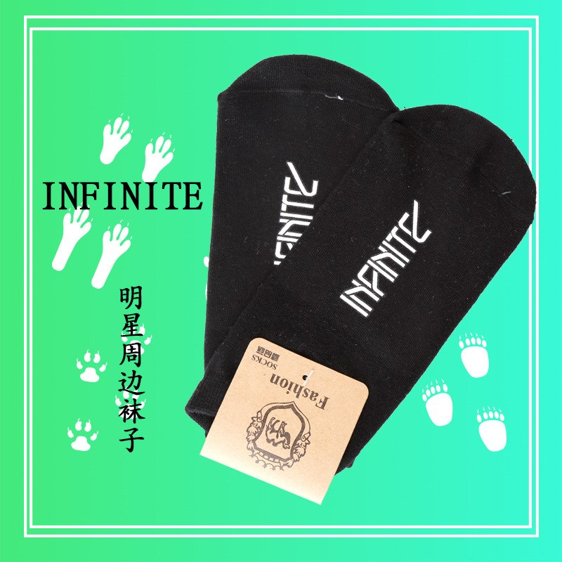 [해외][MYKPOP] UniKPOP 팬 컬렉션 SA18072306 용 무한 블랙 코튼 양말/[MYKPOP]INFINITE Black Cotton Socks for UniKPOP Fans Collection SA18072306