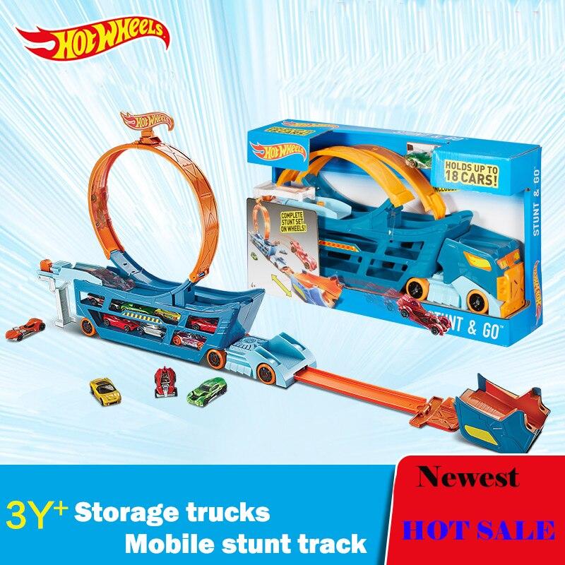 [해외]원래 핫 휠 자동차 트랙 정장 다기능 자동차 장난감 자동차 보관 상자 장난감 모델 DWN56 Hotwheels 수송 트럭 선물/Original Hot Wheels Car Track Suit Multifunction Car Toy Automobile Storage