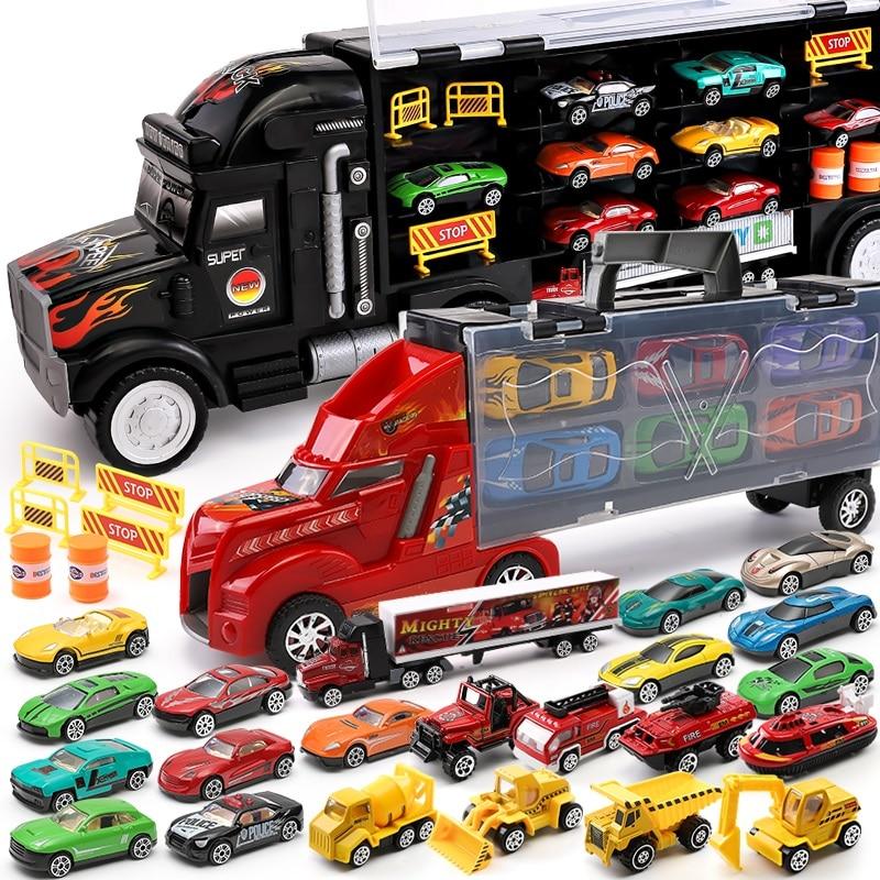 [해외]Hotwheels 트럭 장난감 저장 상자 자동차 컨테이너 확장 가능한 주차 층 뜨거운 바퀴 수송 트럭 장난감 크리스마스의 날 선물 ckc09/Hotwheels 트럭 장난감 저장 상자 자동차 컨테이너 확장 가능한 주차 층 뜨거운 바퀴 수송 트럭