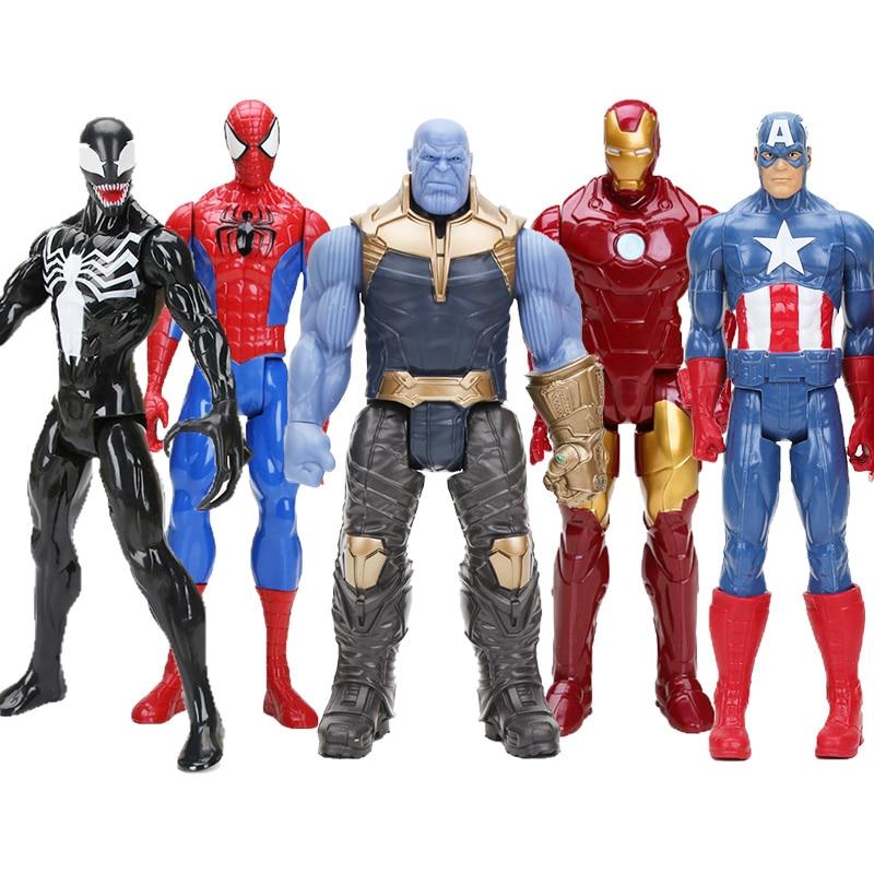 [해외]Hasbro Marvel Toys 복수 자 Endgame 30CM 슈퍼 영웅 토르 헐크 타 노스 울버린 스파이더 맨 아이언 맨 액션 피규어 장난감 인형/Hasbro Marvel Toys 복수 자 Endgame 30CM 슈퍼 영웅 토르 헐크 타