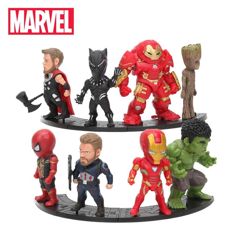 [해외]8 개/대 Marvel Toys 8-10cm 어벤저 스 엔드 게임 타 노스 아이언 맨 스파이더 맨 Hulkbuster 블랙 팬더 그루트 PVC 액션 피규어 모델/8 개/대 Marvel Toys 8-10cm 어벤저 스 엔드 게임 타 노스 아이언