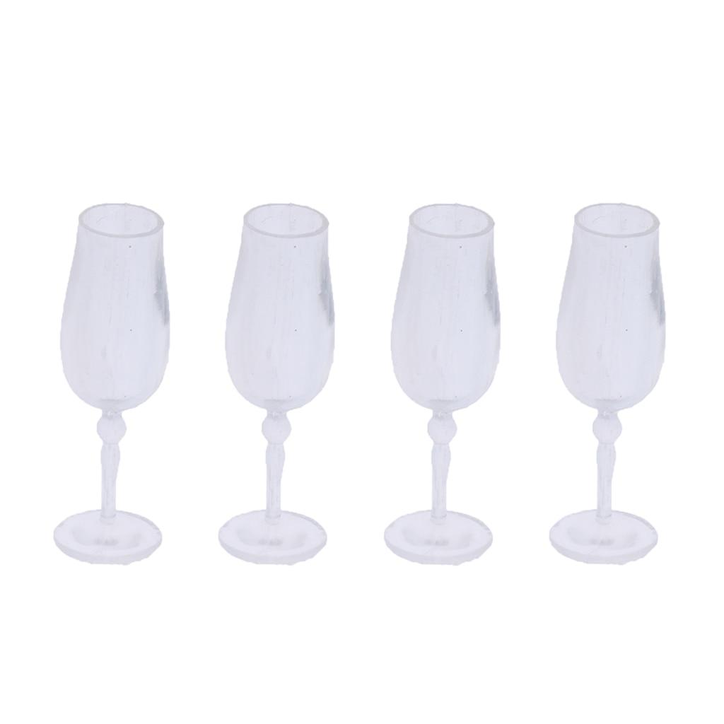 [해외]1/12 인형 집 식기 4 조각 컵 잔 와인 유리 주스 유리 주방 거실 액세서리/1/12 인형 집 식기 4 조각 컵 잔 와인 유리 주스 유리 주방 거실 액세서리