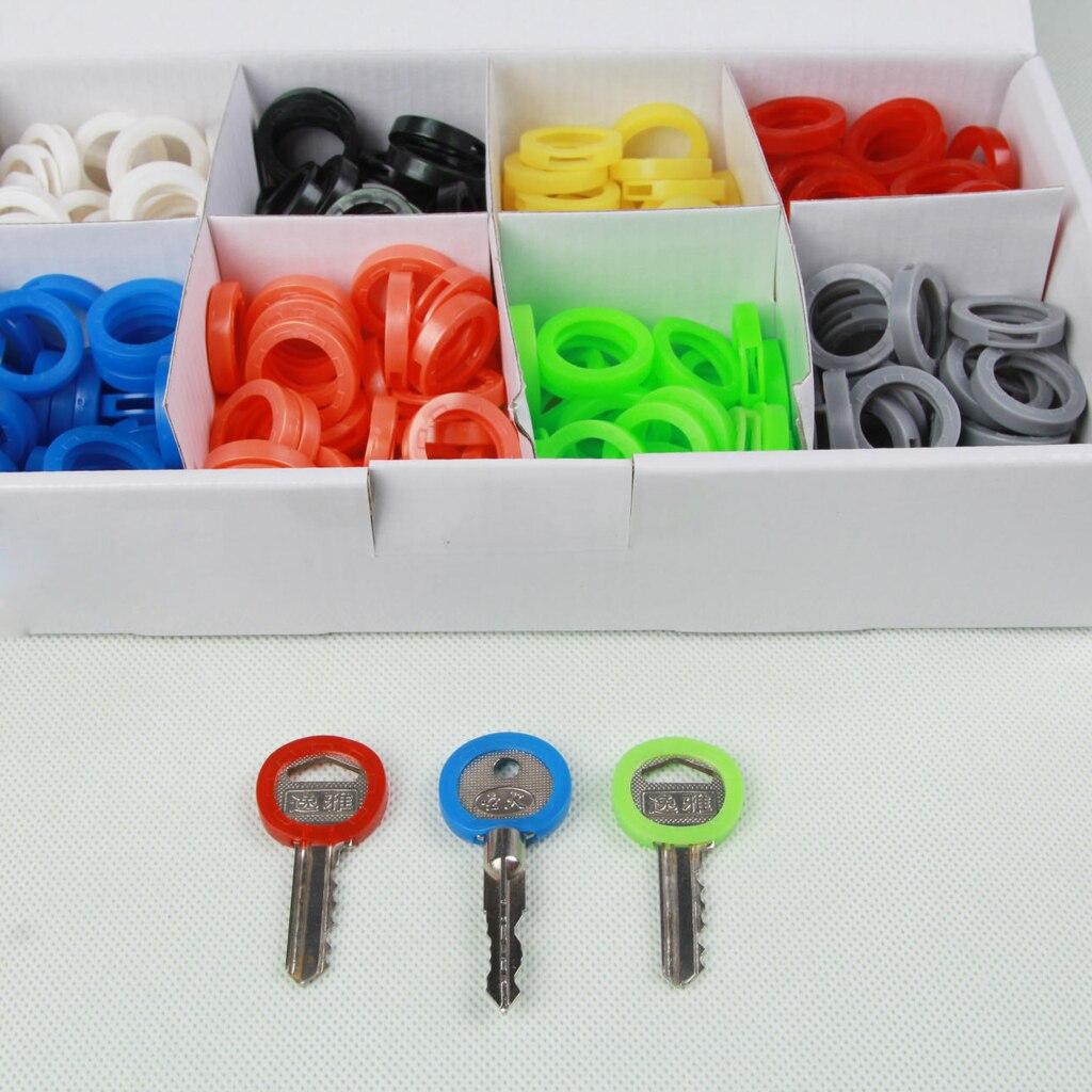 [해외]24 Pcs Assorted Color Multicolor Soft Round Key Locks Keys Cap Key Covers Topper Keyring/24 Pcs Assorted Color Multicolor Soft Round Key Locks Key