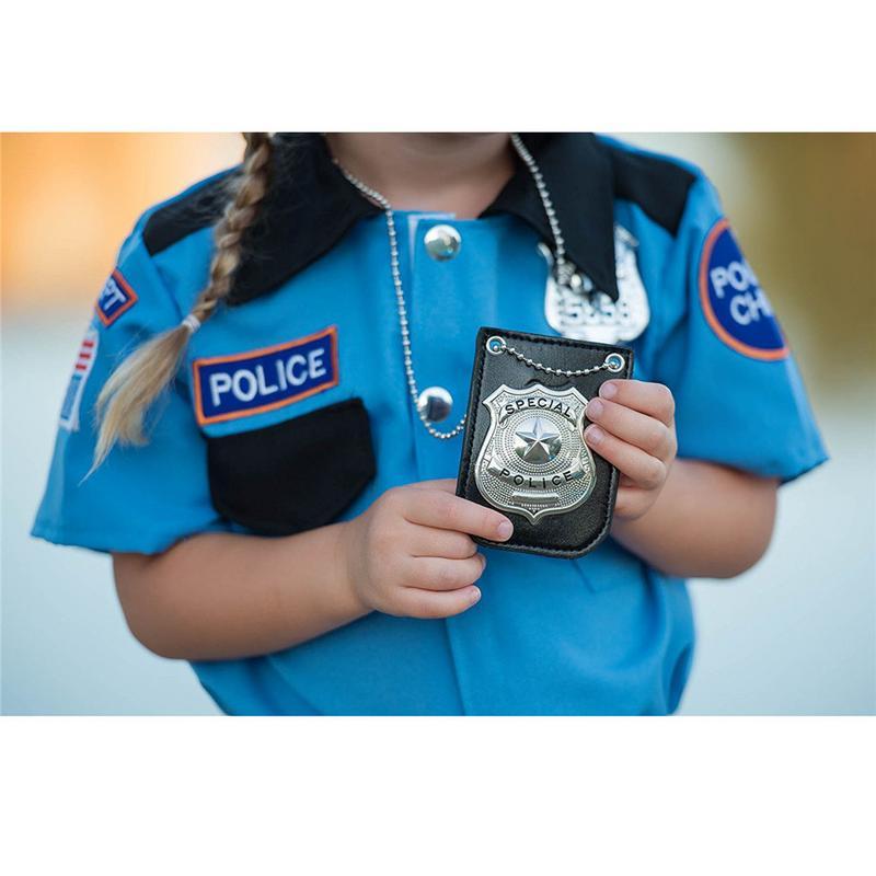 [해외]2019 뉴 아메리카 경찰 역할 놀이 장난감 복장 플레이 미국 경찰 특별 배지 체인 및 벨트 클립/2019 뉴 아메리카 경찰 역할 놀이 장난감 복장 플레이 미국 경찰 특별 배지 체인 및 벨트 클립